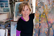 Mary Page Evans in her studio in Greenville, De. on Friday, 7 May 2010. (Photography by Jim Graham)