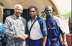 Dec. 6, 2013 - Johannesburg, Afrique du Sud - Nelson Mandela - Christian Karembeu (Credit Image: © Panoramic/ZUMAPRESS.com)