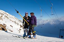 04.10.2010, Rettenbachferner, Soelden, AUT, Medientag des Deutschen Skiverband 2010, im Bild Maria Riesch am Schlepplift. EXPA Pictures © 2010, PhotoCredit: EXPA/ J. Groder