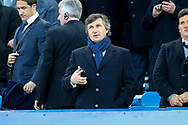 Watford owner Gino Pozzo takes his seat in the Directors Box. Premier league match, Everton vs Watford at Goodison Park in Liverpool, Merseyside on Sunday 5th November 2017.<br /> pic by Chris Stading, Andrew Orchard sports photography.