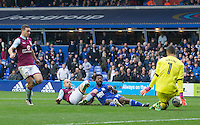 Birmingham City's Jacques Maghoma is denied by Aston Villa's Pierluigi Gollini<br /> <br /> Photographer James Williamson/CameraSport<br /> <br /> The EFL Sky Bet Championship - Birmingham City v Aston Villa - Sunday October 30th 2016 - St Andrews - Birmingham<br /> <br /> World Copyright © 2016 CameraSport. All rights reserved. 43 Linden Ave. Countesthorpe. Leicester. England. LE8 5PG - Tel: +44 (0) 116 277 4147 - admin@camerasport.com - www.camerasport.com