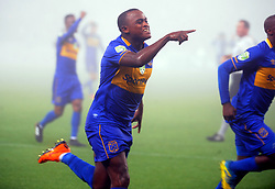 Cape Town 18-03-14  Cape Town city Ayanda Patosi scored against Orlando Pirates nedbank Cup in  Cape Town Stadium Pictures Ayanda Ndamane African news agency/ANA