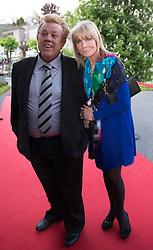 """08.05.2015, Schlosshotel Velden, Velden, AUT, 25 Jahre, Ein Schloss am Wörthersee, Klassentreffen die Gala, im Bild Zachi Noy, Christine Schuberth // Zachi Noy, Christine Schuberth during the Gala of Class reunion - 25th anniversary of tv series """"Ein Schloss am Wörthersee"""" at the Schlosshotel Velden, Austria on 2015/05/08. EXPA Pictures © 2015, PhotoCredit: EXPA/ Johann Groder"""