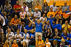 12-09-2010 VOLLEYBAL: EK KWALIFICATIE NEDERLAND - ESTLAND: ROTTERDAM<br /> Publiek support voor Estland<br /> ©2010-WWW.FOTOHOOGENDOORN.NL / Peter Schalk