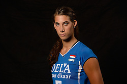25-06-2013 VOLLEYBAL: NEDERLANDS VROUWEN VOLLEYBALTEAM: ARNHEM<br /> Selectie Oranje vrouwen seizoen 2013-2014 / Robin de Kruijf - FIVB Heroes<br /> ©2013-FotoHoogendoorn.nl