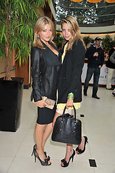 Left to right, SOPHIE DICKENS and GRETA BELLAMACINA at the Veuve Clicquot Mint Polo in The Park after party held at The Hurlingham Club, Ranelagh Gardens, London SW6 on 5th June 2011.
