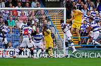 Photo: Leigh Quinnell.<br /> Queens Park Rangers v Southampton. Coca Cola Championship. 01/09/2007. Grzegorz Rasiak rises high to head in Southamptons first goal.