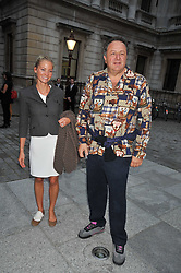 JEAN PIGOZZI and ANNIKA MURJAHN at the private view of Anish Kapoor's latest exhibition at the Royal Academy of Arts, Piccadilly, London on 22nd September 2009