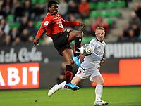 Fotball<br /> Frankrike<br /> Foto: DPPI/Digitalsport<br /> NORWAY ONLY<br /> <br /> FOOTBALL - FRENCH CHAMPIONSHIP 2009/2010  - L1 - STADE RENNAIS / RENNES v VALENCIENNES - 1/11/2009<br /> <br /> ASAMOAH GYAN (REN) / RUDY MATER (VAFC)