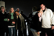 Northern Illinois University students take part in a prayer vigil after a mass shooting on the school campus earlier that day, Thursday, Feb. 14, 2008 at Central Park in Dekalb.<br /> SCOTT MORGAN   ROCKFORD REGISTER STAR