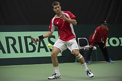 September 17, 2017 - Biel, Schweiz - Biel, 17.09.2017, Tennis, Davis Cup, Schweiz - Weissrussland, Marco Chiudinelli (SUI) (Credit Image: © EQ Images via ZUMA Press)