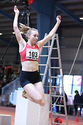 Sarah Winther Jensen. Danske Mesterskaber indendørs i atletik 2017  i Spar Nord Arena, Skive, Denmark, 18.02.2017. Photo Credit: Allan Jensen/EVENTMEDIA.
