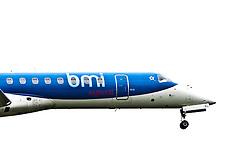A bmi plane on approach to Edinburgh airport..©Pic : Michael Schofield.