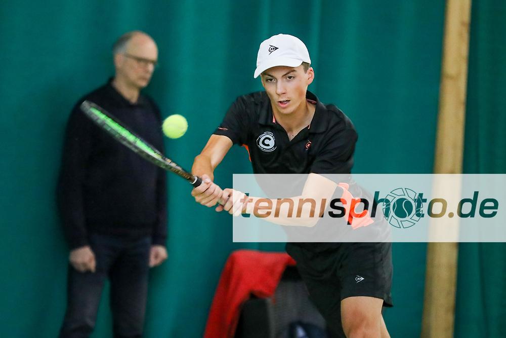 Hallenvizemeister 2020: Benito Jaron Sanchez Martinez (Tennis-Club SCC Berlin), TVBB Hallen-Verbandsmeisterschaften Damen und Herren 2020, Seeburg, 16.02.2020, Foto: Claudio Gärtner