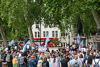 trans life matters protest parliament sq london 4th july 2020. photo by Mark Anton Smith