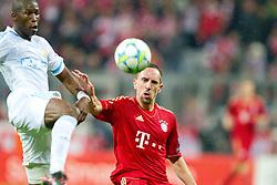 03-04-2012 VOETBAL: UEFA CL FC BAYERN MUNCHEN - OLYMPIQUE MARSEILLE: MUNCHEN<br /> Rod Fanni (Marseille #24) mit Franck Ribery <br /> ***NETHERLANDS ONLY***<br /> ©2012-FotoHoogendoorn.nl-NPH/Straubmeier