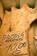 dried cod, Palermo food market, Sicily
