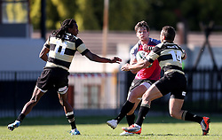 Tyler Fisher of the Pumas attempts to get past Gerrit van Wyk of Boland during the Currie Cup premier division match between the Boland Cavaliers and The Pumas held at Boland Stadium, Wellington, South Africa on the 2nd September 2016<br /> <br /> Photo by:   Shaun Roy/ Real Time Images