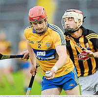 15 September 2012; Paul Flanagan, Clare, in action against Kevin Kelly, Kilkenny. Bord Gáis Energy GAA Hurling Under 21 All-Ireland 'A' Championship Final, Clare v Kilkenny, Semple Stadium, Thurles, Co. Tipperary. Picture credit: Matt Browne / SPORTSFILE