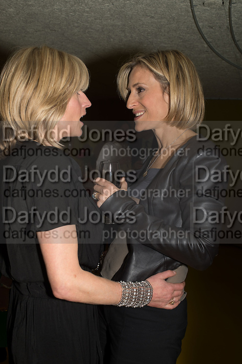 RACHEL JOHNSON; EMILY MAITLIS, Launch of ' More Human',  Designing a World Where People Come First' by Steve Hilton. Party held at Second Home in Princelet St, off Brick Lane, London. 19 May 2015.