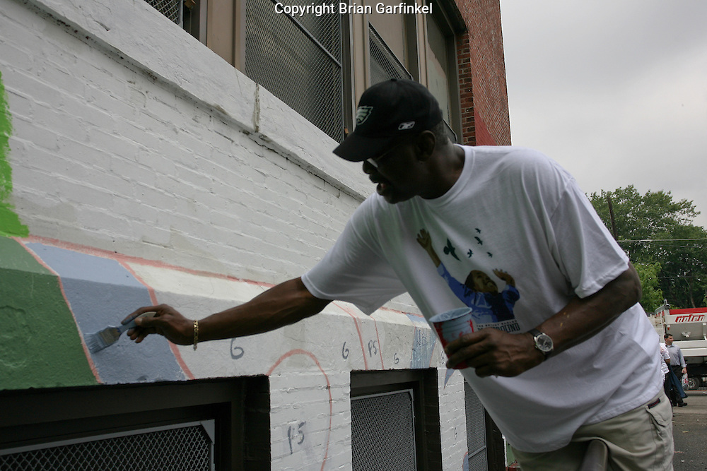 Philadelphia, Pennsylvania - the Philadelphia Eagles participate in the annual Eagles Playground for Hope Charity event.