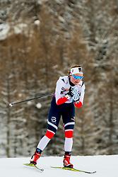 February 2, 2018 - Goms, SWITZERLAND - 180202 Julie Myhre of Norway competes in the women's 7,5/7,5 km skiathlon during the FIS U23 Cross-Country World Ski Championships on February 2, 2018 in Obergoms..Photo: Vegard Wivestad GrÂ¿tt / BILDBYRN / kod VG / 170095 (Credit Image: © Vegard Wivestad Gr¯Tt/Bildbyran via ZUMA Press)