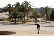 Abu Dhabi, United Arab Emirates (UAE). March 20th 2009.<br /> Al Ghazal Golf Club.<br /> 36th Abu Dhabi Men's Open Championship.<br /> Paul King
