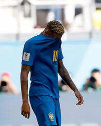 SAINT PETERSBURG, June 22, 2018  Neymar of Brazil reacts during the 2018 FIFA World Cup Group E match between Brazil and Costa Rica in Saint Petersburg, Russia, June 22, 2018. Brazil won 2-0. (Credit Image: © Cao Can/Xinhua via ZUMA Wire)
