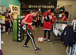 CARDIFF, WALES - Thursday, June 2, 2016: Wales' Gareth Bale during a visit to a JD Sports store in Llantrisant. (Pic by Ian Cook/Propaganda)
