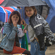 Hundreds of students and young people strike from school, even is rain attend the Youth Strike 4 Climate nationwide demand world leaders to act now at Parliament Square on 19 July 2019, London, UK