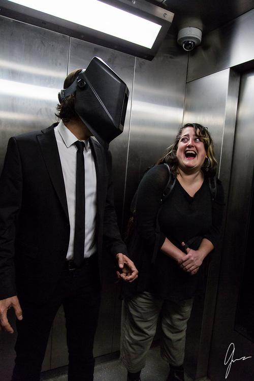 Cure for Gravity<br /> Music Video Production Stills<br /> Hacker Cave scene<br /> <br /> Director: Daniel Garcia<br /> Art Director: Treigh Love<br /> Photo Art Director and Production Stills: Geneva Bumb Shanti<br /> Actress: Jackie Dallas<br /> Actor: Joe Market