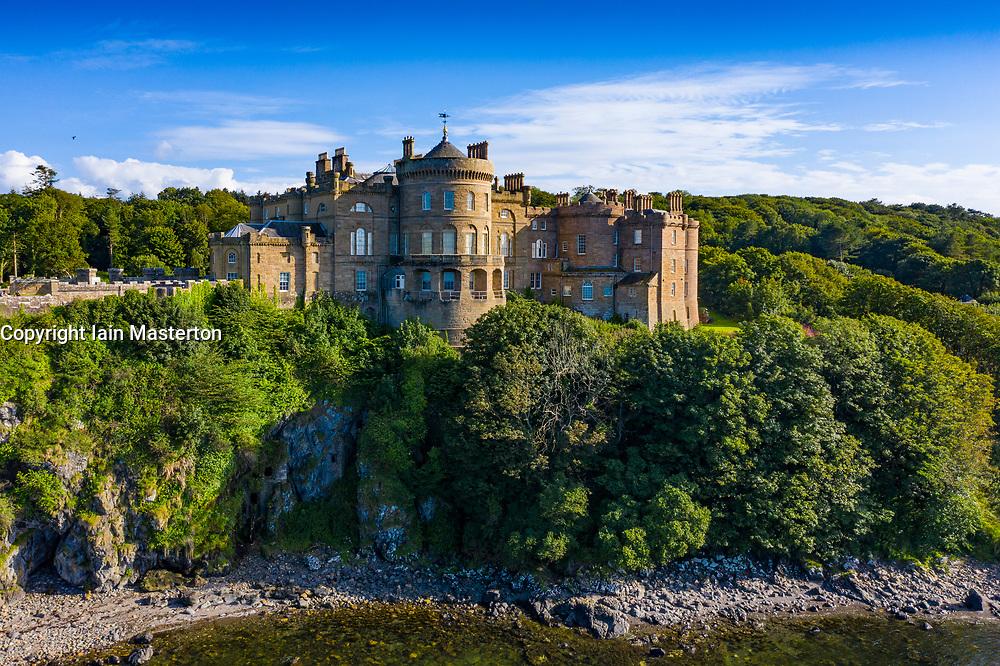 Aerial view of Culzean Castle in Ayrshire, Scotland, UK