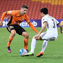 BRISBANE, AUSTRALIA - FEBRUARY 21: Brandon Borrello of the Roar in action during the Asian Champions League Group Stage match between the Brisbane Roar and Muangthong United FC at Suncorp Stadium on February 21, 2017 in Brisbane, Australia. (Photo by Patrick Kearney/Brisbane Roar)