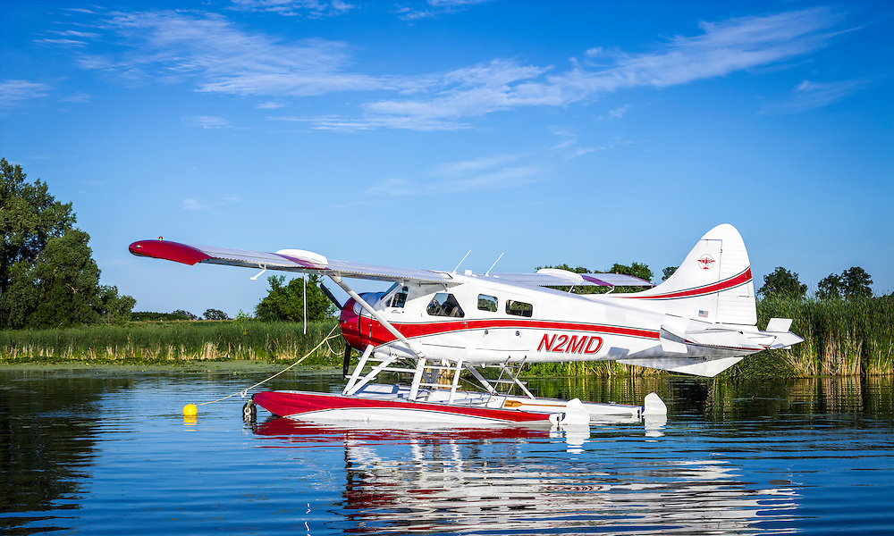 1955 de Havilland DHC2 Beaver, owned by D.J. Dondelinger, of Brainerd, MN.  The aircraft won a Gold Lindy at AirVenture in 2015.  <br /> <br /> Created by aviation photographer John Slemp of Aerographs Aviation Photography. Clients include Goodyear Aviation Tires, Phillips 66 Aviation Fuels, Smithsonian Air & Space magazine, and The Lindbergh Foundation.  Specialising in high end commercial aviation photography and the supply of aviation stock photography for advertising, corporate, and editorial use.