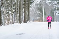 Joan Benoit Samuelson runs on roads near her Maine home