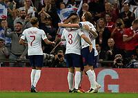 Football - 2018 / 2019 UEFA Nations League A - Group Four: England vs. Spain<br /> <br /> England players congratulate goalscorer Marcus Rashford (England) at Wembley Stadium.<br /> <br /> COLORSPORT/DANIEL BEARHAM