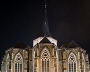 Sint Jacobschurch with Roland Jéol's award winnig lighting plan ghent, Belgium, 30.10.2014