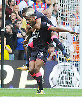 Football - 2017 / 2018 Premier League - Crystal Palace vs. Huddersfield Town<br /> <br /> Hudderfield's Steve Mounie after scoring the 2nd goal  at Selhurst Park.<br /> <br /> COLORSPORT/ANDREW COWIE