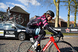 Amber van der Hulste at Le Samyn des Dames 2018 - a 103 km road race on February 27, 2018, from Quaregnon to Dour, Belgium. (Photo by Sean Robinson/Velofocus.com)
