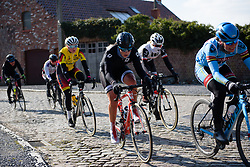 Kelly Druyts over the cobbles at Le Samyn des Dames 2018 - a 103 km road race on February 27, 2018, from Quaregnon to Dour, Belgium. (Photo by Sean Robinson/Velofocus.com)