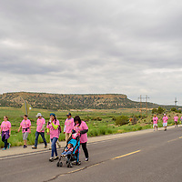 071815       Cable Hoover<br /> <br /> Demonstrators march past the site of the 1979 tailings spill the annual Churchrock Uranium Tailings Spill Memmorial Saturday in the Red Water Pond community.