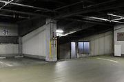 empty parking garage during night