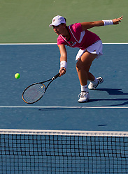 Marina Erakovic of New Zealand at 2nd Round of Doubles at Banka Koper Slovenia Open WTA Tour tennis tournament, on July 22, 2010 in Portoroz / Portorose, Slovenia. (Photo by Vid Ponikvar / Sportida)
