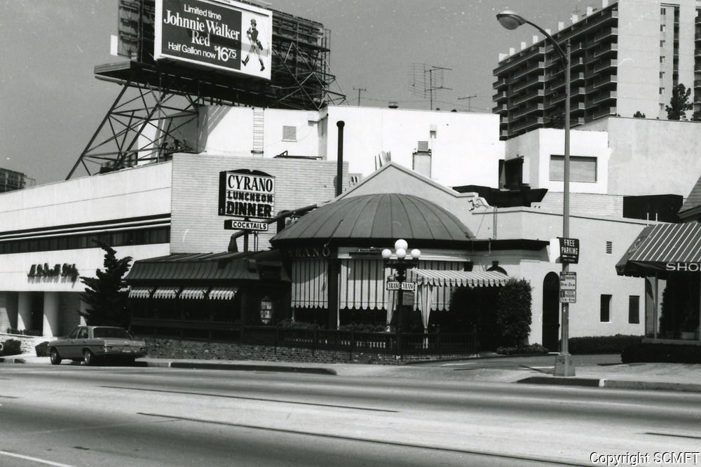 1973 Cyrano Restaurant on Sunset Blvd. in West Hollywood