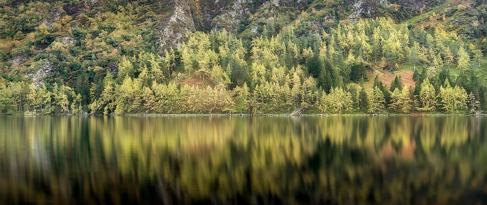Autumn at the upper lake, Glendalough, Co.Wicklow. 2020 was a good Autumn in Wicklow, plenty reds and yellow, not much good without calm conditions, perfectly calm, just like this.
