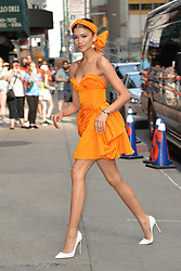June 25, 2019 - New York, NY, USA - June 25, 2019 New York City..Zendaya arriving to tape an appearance on 'The Late Show with Stephen Colbert' on June 25, 2019 in New York City. (Credit Image: © Kristin Callahan/Ace Pictures via ZUMA Press)