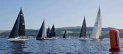 Largs Regatta Festival 2019<br /> <br /> RC35 Class Start of the Round Cumbrae Race with Jacob, Bluejay and Jings