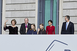 Former King Juan Carlos I of Spain, Former Queen Sofia of Spain, King Felipe VI of Spain, Queen Letizia of Spain, Princess Leonor of Spain and Princess Sofia of Spain attends to 40 Anniversary of Spanish Constitution at Congreso de los Diputados in Madrid, Spain. December 06, 2018. Photo by ALTERPHOTOS/A. Perez Meca/ABACAPRESS.COM