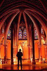 Paris, France:  Lower chamber of Sainte Chapelle.