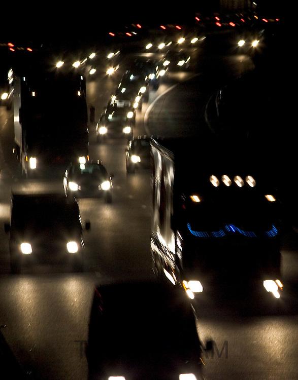 Traffic on M25 Motorway near South Mimms, Hertfordshire, United Kingdom